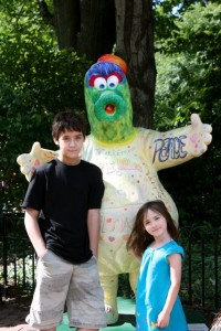 Kids with the Phanatic