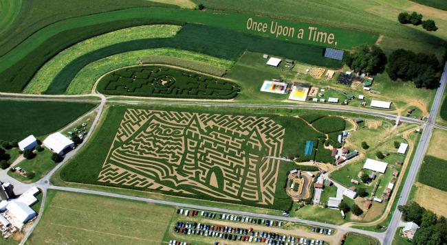 cherry crest adventure farm maze 2011