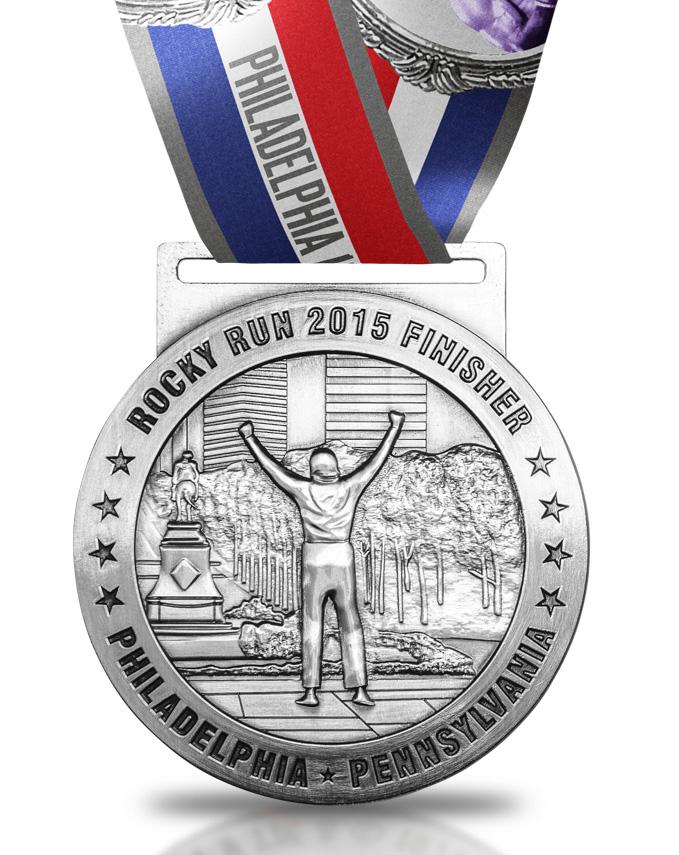 rocky run 5k 10k medal