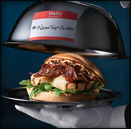 free #NameThatChicken burger