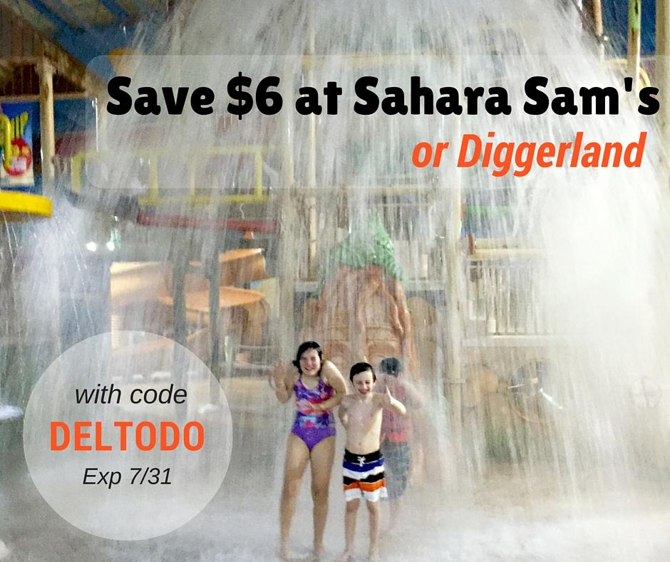 Sahara Sam's Diggerland discount