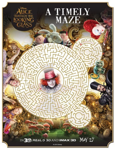 alice in wonderland printable maze