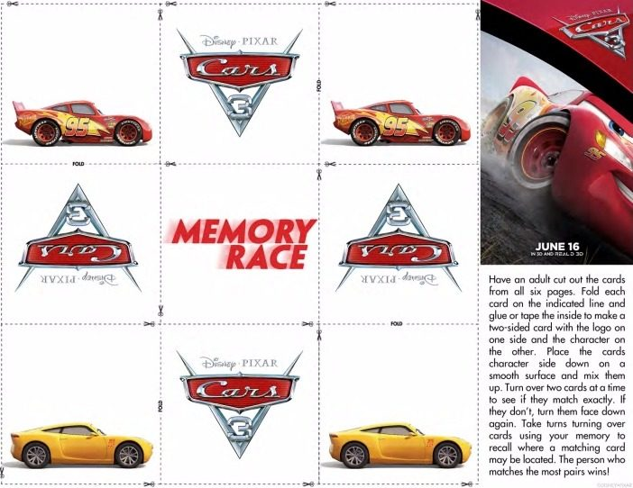 CARS activity sheets