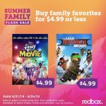 Summer Flash Sale on Family Flicks You KEEP! Shop Your Redbox
